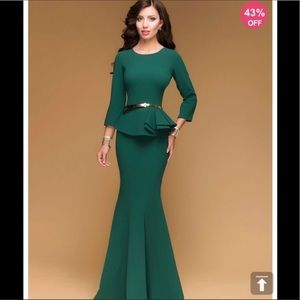 Jade evening gown